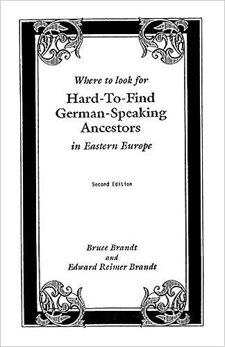 Where to Look for Hard-to-Find German-Speaking Ancestors in Eastern