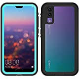 Waterproof Case for Huawei P20 Pro 360 Full Cover Protection Shell for Huawei P20 / P20 Pro Diving Underwater Shockproof Coque (Blue,Huawei P20 PRO)