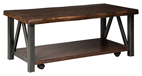 Signature Design by Ashley T815-1 Rectangular Cocktail Table Hardwood Urban Coffee Table