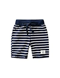 Houfung 2-8 Years Baby Boy's Shorts for Kids Toddler Boy ' Summer Casual Cotton Beach Jersey Cotton Fifth Pants