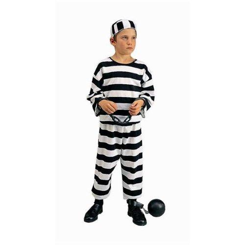 [Convict Boy Costume, Boys Medium(8-10)] (Law Enforcement Child Costume)