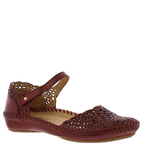 Pikolinos Women's Puerto Vallarta Closed Toe Sandal 655-1532,Sandia Leather,EU 4