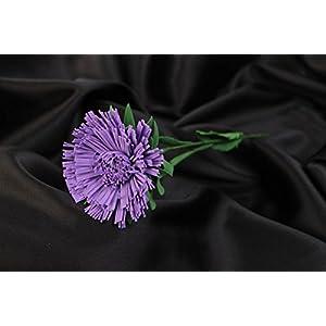 Handmade Volume Artificial Foamiran Flower Violet Aster For Interior Decoration 78