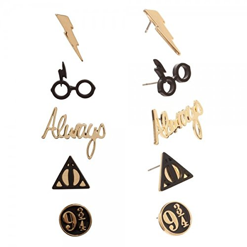 Harry Potter Logos 5 Pack Stud Earring Set