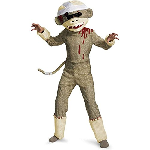 Halloween Sock Pirate Costume Monkey (Zombie Sock Monkey Costume -)