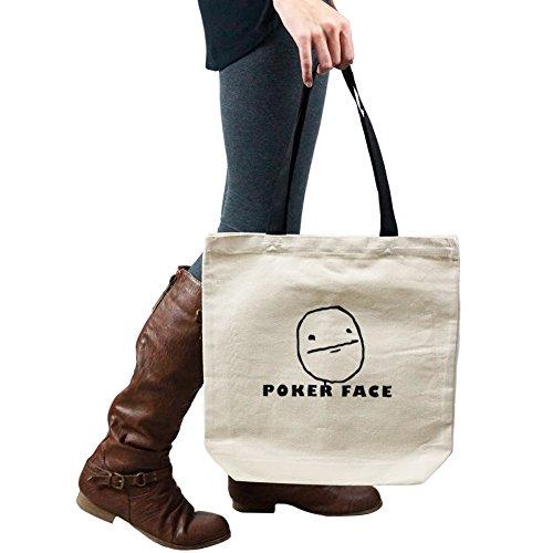 JDM Funny Poker Face Cartoon Meme Tote Handbag Shoulder Bag - Face Poker Cartoon
