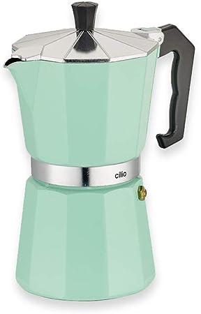 Cilio Classico - Cafetera italiana (6 tazas), color verde menta ...