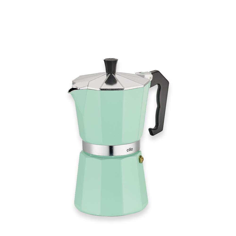 Cilio Classico - Cafetera Italiana (6 Tazas), Color Verde Menta