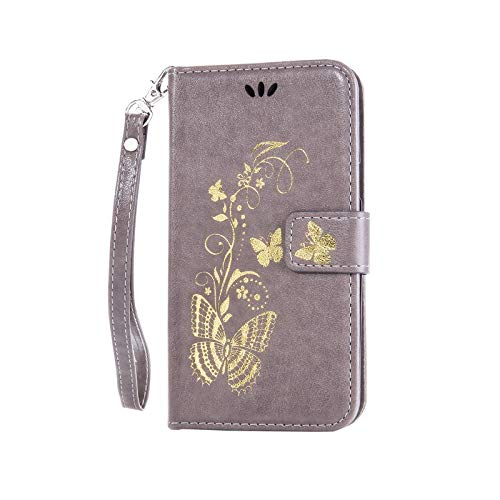 1 piece DEEVOLPO Leather Wallet Cases Golden Butterfly Covers For Lenovo A2010 A1000 A5000 A6000 A7000 K3 Note Lady Phone Bags Capa D02Z