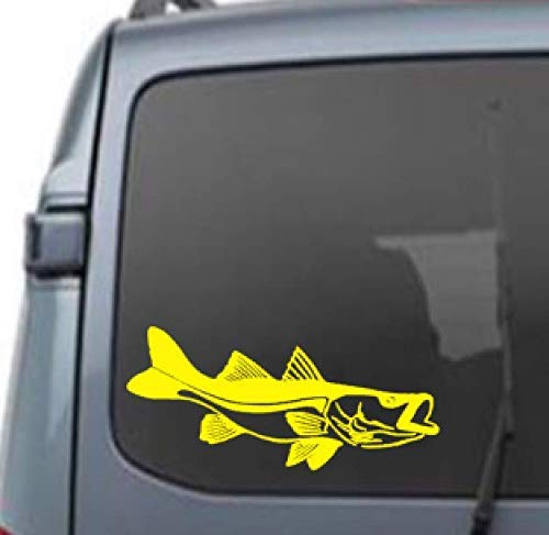 Snook vinyl sticker car truck boat jets ski water sports fishing windows kids mens boys tweens fishing poles
