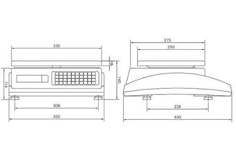 Balanza Sobre Mostrador Epelsa Mod. Marte 10 V4 IC de Bajo Consumo/Capacidad 15 kg ; fracción 5 gr: Amazon.es: Bricolaje y herramientas