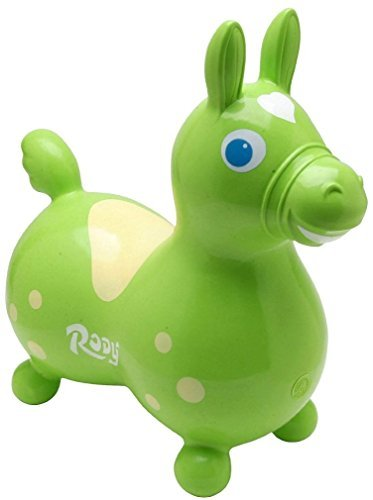 Rody the Horse Child's Bounce and Ride, Lime -
