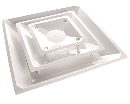 Eger Products EA310W-SP, Ceiling Diffuser Wht 10In Duct