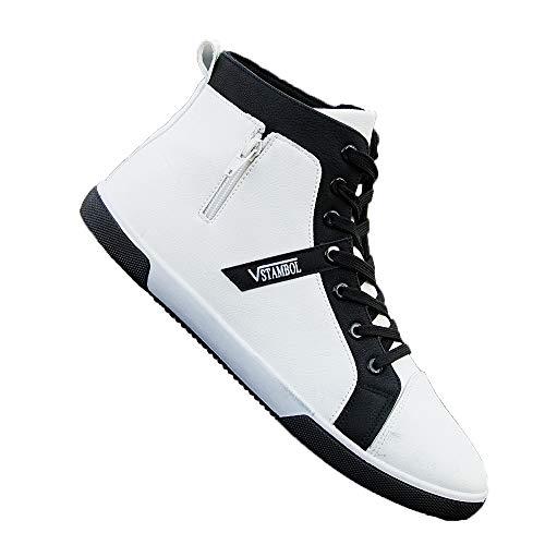 7 Décontractées Durable Marron Chaussures 5 Bottines Homme Confort De Antidérapant Pour Jincosua Blanc Étanche Sport Uk YOtxPP