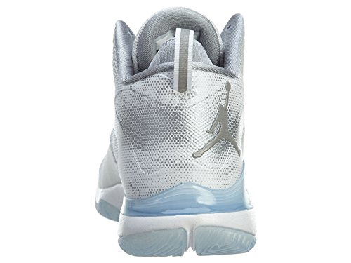 Nike Air Jordan Super.fly 3 Mens Hi Top Scarpe Da Basket 743665 Scarpe Da Ginnastica Scarpe Bianco Argento Riflettente Grigio Lupo 109