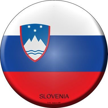 Pride Plates Slovenia Country Novelty Metal Circular Sign C-415 ()