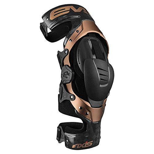 EVS Sports Black/Copper Axis Pro Left Knee Brace Size X-Large Made for Lightweight Comfort and Flexibility ()