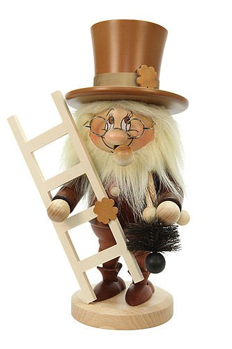 Chimney Sweep Nutcracker - German Incense Smoker Gnome Chimney Sweep - 31,0 cm / 12 inches - Christian Ulbricht