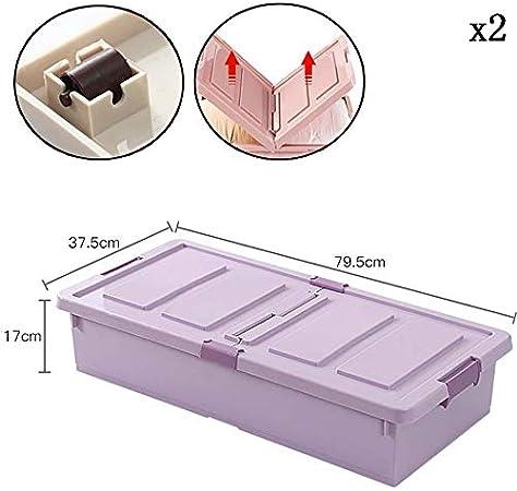 Caja de almacenamiento debajo de la cama con ruedas KEKET1 con clips Cajas de almacenamiento grandes De plástico resistente a la humedad Sin olor resistente for medicamentos alimenticios Set de seguri: Amazon.es: