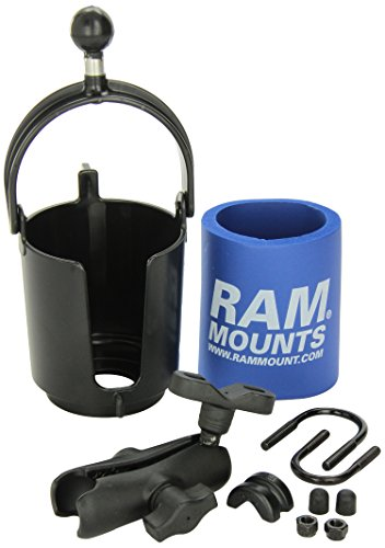 RAM MOUNTS RAM-B132R Drink Cup Holder with U-Bolt Base (Wobble 0.5')