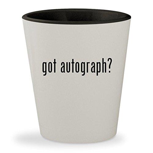 got autograph? - White Outer & Black Inner Ceramic 1.5oz Shot - Stewart Kristen Glasses