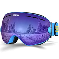 Features: Super Wide Spherical Vision Comfortable OTG ( Over The Glasses ) Design REVO Lens Coating & Water Repellent Coating Long Lasting Anti-fog System & UV Protection Flexible TPU Frame & Triple Layer Foam Helmet Compat...