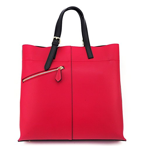 7e27ecd5c0 Minch K02 Leather Designer Shoulder Crossbody Tote Bags Purses and Handbags  on Clearance for Women Work (Red)