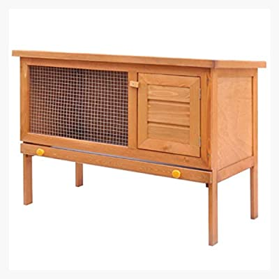 K&A Company Outdoor Rabbit Hutch Small Animal House Pet Cage 1 Layer Wood