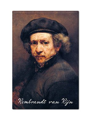 Rembrandt van Rijn Self Portrait Fridge Magnet
