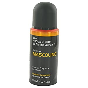 Designer Imposters Mascolino By PARFUMS DE COEUR FOR MEN 4 oz Body Spray