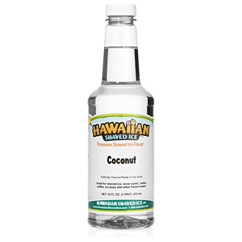 (Hawaiian Shaved Ice Coconut Snow Cone Syrup, 1 Pint)