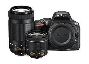 Nikon D5500 DX-format Digital SLR Dual Lens Kit w/ - Nikon AF-P DX NIKKOR 18-55mm f/3.5-5.6G VR & Nikon AF-P DX NIKKOR 70-300mm f/4.5-6.3G ED Lens