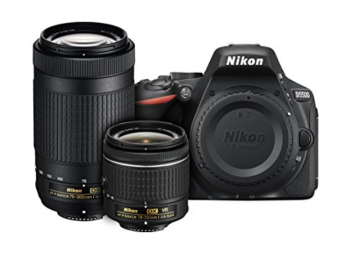 Nikon D5500 DX-format Digital SLR Dual Lens Kit w/ - Nikon AF-P DX NIKKOR 18-55mm f/3.5-5.6G VR & Nikon AF-P DX NIKKOR 70-300mm f/4.5-6.3G ED Lens (Best Lenses For Nikon Dx Format)