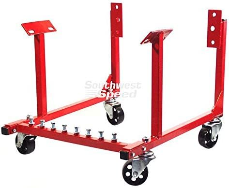 Southwest Speed New 1000 LB Capacity Engine Transportation Stand with 3 Heavy-Duty Swivel CASTERS