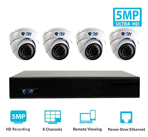 GW Security 9 Channel 4K NVR H.265 Onvif IP Security System
