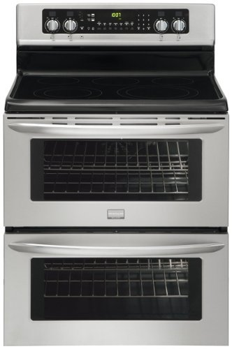 Gallery Series 30″ Electric Smoothtop Freestanding Range with Double Ovens Color: Stainless Steel image