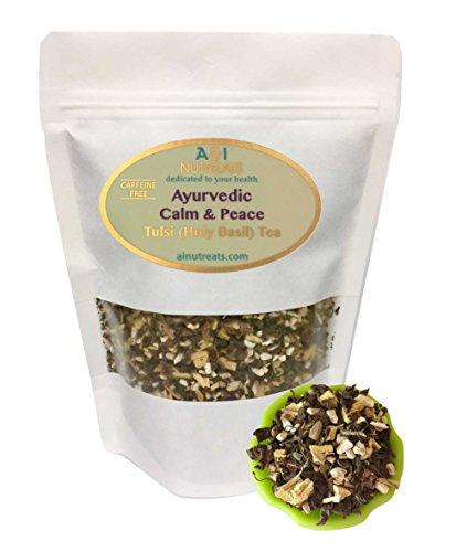Ginseng Licorice - Ayurvedic Calm & Peace Tulsi (Holy Basil) tea - Brings clarity and stress relief - Organic Loose Leaf Tulsi, Ashwagandha and Licorice Tea (3 oz.)
