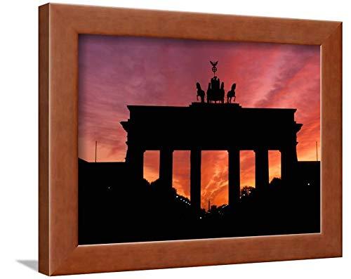 ArtEdge Brandenburg Gate, Unter Den Linden, Berlin, Germany by Dave Bartruff, Brown Wall Art Framed Print, 9 x ()