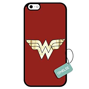 Onelee - Customized Wonder Woman Logo TPU Case Cover for Apple iphone 5 5s - Black 03