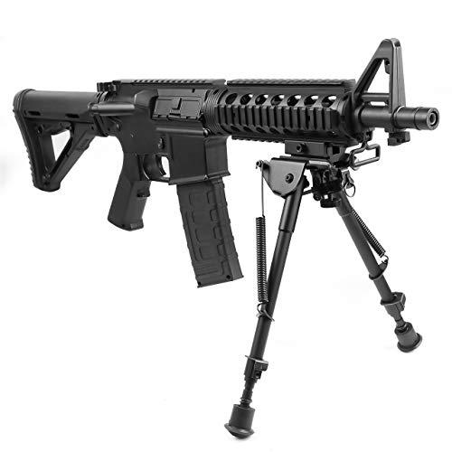 "Adjustable  6/"" to 9/"" Legs Sniper Rifle Bipod Sling Swivel Holder Mount US"