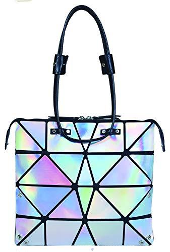 Hanaa-fu Womens Handbag Sargas Origami Transforming Bag White by Hanaa-fu