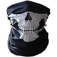 Máscara 3D de calavera para el cuello, cálida