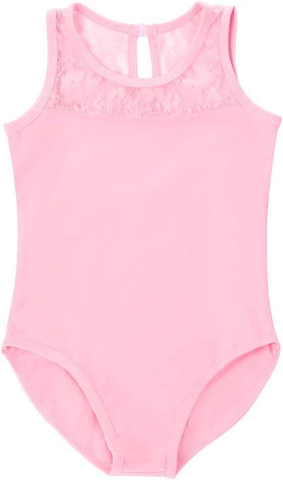 Soudittur Filles Justaucorps de Danse Classique sans Manches Gymnastique Dancewear Bodysuit Sport en Rose Bleu Violet Noir