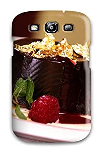 Premium Galaxy S3 Case - Protective Skin - High Quality For Chocolate With Gold Leaf