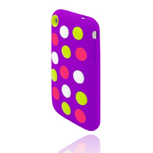 Incipio Dotties Case for iPhone 3G, 3GS (Purple, Lime, Wh...