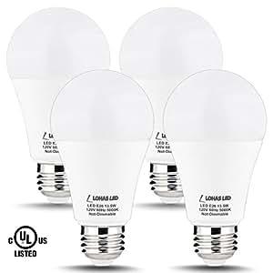 Lohas A19 Bulb 100w Led Light Bulbs A19 Daylight E26