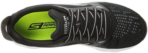 Skechers Go Run Ride 6, Zapatillas de Deporte Exterior para Hombre Negro (Black White)