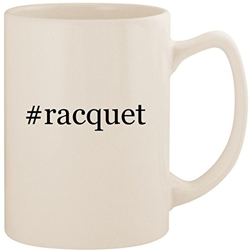 #racquet - White Hashtag 14oz Ceramic Statesman Coffee Mug Cup
