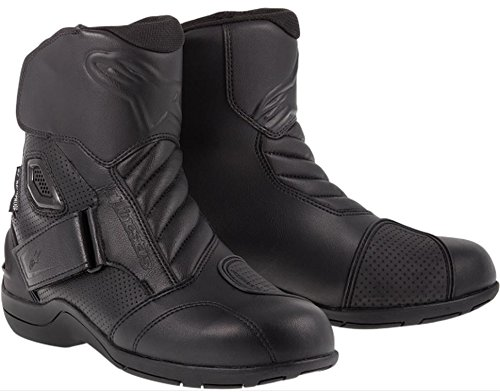 Street Motorcycle Boot Accessories (Alpinestars Gunner Waterproof Men's Street Motorcycle Boots (Black, EU Size 43))