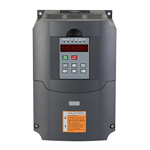Mophorn VFD Drive VFD Inverter 220V 4KW 5HP Frequency Drive Inverter Professional Variable Frequency Drive VFD for Spindle Motor Speed Control (4KW VFD)